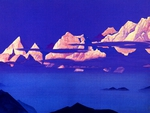 Pink Mountains by Nicholas Roerich