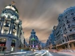 wonderful view of a madrid street