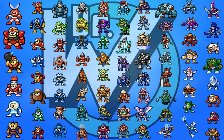 Mega Man Robot Masters Wallpaper