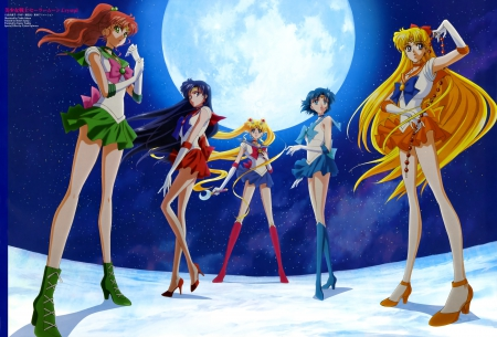 Pretty Guardian Sailor Moon: Crystal - minako, pretty, beautiful, ami, sailor jupiter, sweet, magical girl, nice, fantasy, group, twin tail, moon, makoto, rei, anime, sailor mars, sailor moon, beauty, anime girl, team, sailormoon, usagi, sailor maia, female, sailor venus, lovely, luna, twintail, sailor mercury, twintails, twin tails, girl