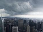 rain storm moving over new york city