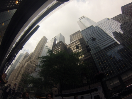 New York City Skyline (GoPro) - architecture, skyscraper, nyc, hd, clouds, centralpark, gopro, skyline, iloveny, america, reflection, picoftheday, manmade, newyork, manhattan, timessquare, building, tree, usa, hero, summer, awesome, nature