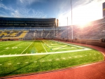 michigan university huge football stadium hdr