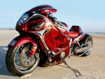 Customized Red Suzuki