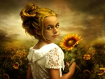 Girl-with-Sunflowers
