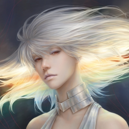 Kiryuuin Ragyou - pretty, hd, flow, cg, white hair, breeze, kill la kill, beautiful, sweet, nice, emotional, anime, hot, beauty, anime girl, realistic, blosing, female, lovely, wind, kill-la-kill, sexy, plain, girl, flowing, windy, simple, silver hair, sinister