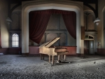 abandoned music room