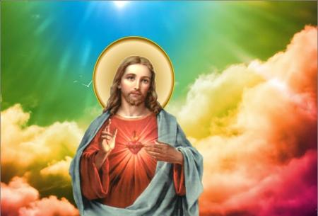 Sagrado corazon de jesus collages abstract background wallpapers on desktop nexus image - Wallpaper de jesus ...