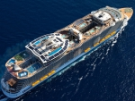 aerial view of a beautiful ocean cruise ship