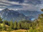 amazing mountain landscape hdr