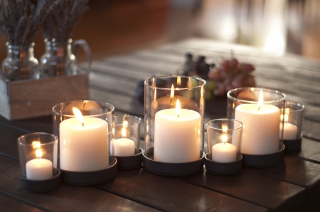 ●  ●  ● Cozy White Candles ●  ●  ● - warm, cozy, romantic, white, ambience, candles