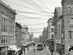 vintage view of old main street