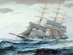Rough seas _oil painting