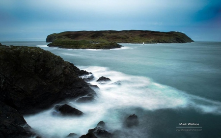 Calf Man - Southcoast - HD, water, rocks, sea, Ireland, coast, ocean, landscape, stones, scene, photography, wallpaper, abstract