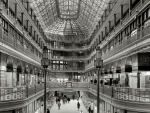 vintage mall in black and white
