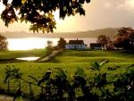 lovely lakeside farm