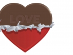 Chocolate love heart