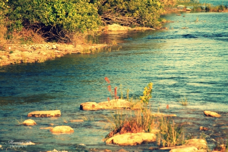 Nueces River - texas, river, campwood, nueces