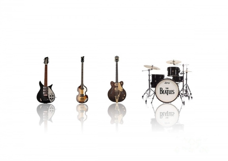 Band - beatles, guitar, music, band, drums