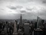 new york city under stormy sky
