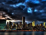 New York Skyline At Nite