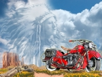 1937 Harley Davidson Vintage Indian Motorcycle