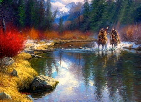 ✫Spring will Come✫ - stunning, splendid, perfect, attractions in dreams, beautiful, most downloaded, seasons, paintings, people, landscapes, Native Americans, forests, scenery, streams, Adventure Series, animals, love four seasons, Western, creative pre-made, spring, trees, horses, mountains, weird things people wear, wildlife, nature, gallop
