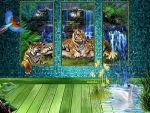 living image of tigers