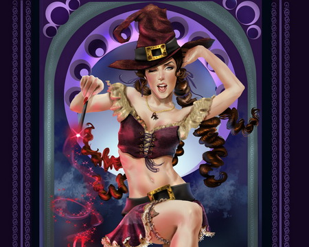 MAGIC DANCER - magicwand, fantasy, dance, wink, hat