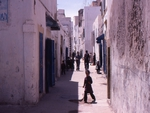 Street of Essaouira in Morocco