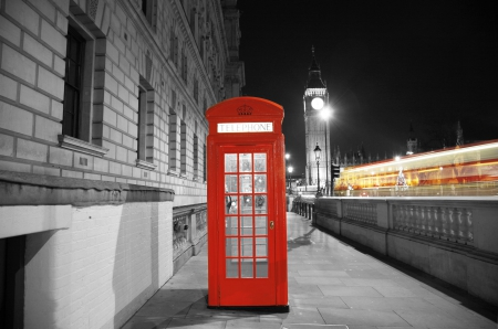 Live - live, telephone, two colors, london