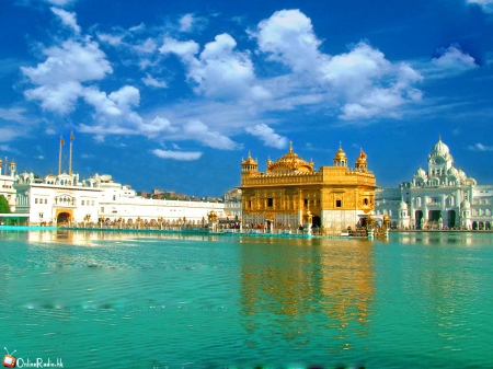 Golden Temple Ancient Architecture Background Wallpapers On