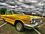 Yellow Chevy Lowrider