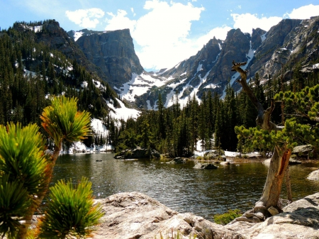 Dream Lake - mountain, forest, cool, nature, fun, lake