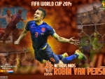 ROBIN VAN PERSIE NDERLANDS WORLD CUP 2014 WALLPAPER