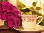 A vintage tea cup