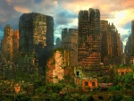 Abandon city after the apocalypse
