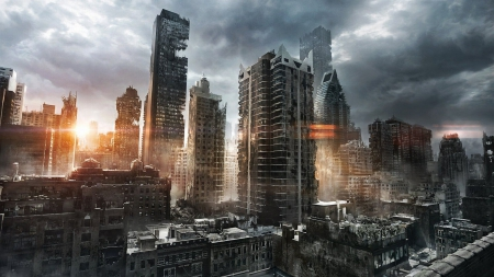Post Apocalyptic City 3d And Cg Abstract Background Wallpapers On Desktop Nexus Image 1784584