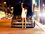 babe and car