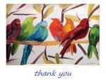 Colorful parrots_painting