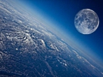 Moon above earth