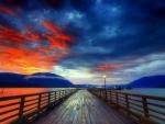 -Sunset on the Bridge-