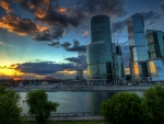 moscow international business center hdr