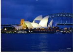 Opera House and Harbour Bridge Sydney NSW Australia
