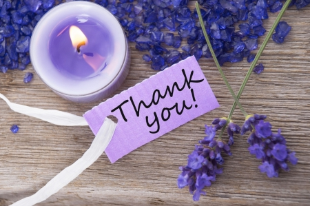 *Thank You* - candle, thank you, purple color, calming, moments of relax, lavander