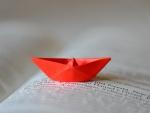 Small paper boat