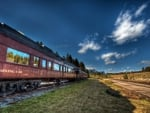 old train in canadian high country hdr