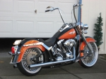 Black Over Orange Harley
