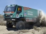 TRUCK IVECO WAR AT THE DESERT