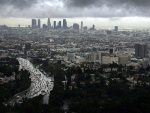 wonderful panorama view of los angeles